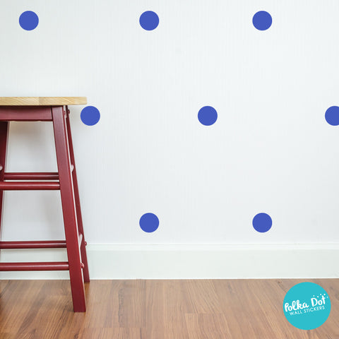 Brilliant Blue Polka Dot Wall Decals
