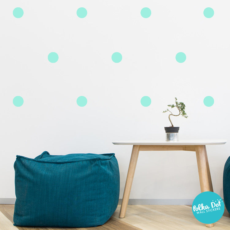 Mint Polka Dot Wall Decals Peel And Stick  Polka Dot Wall Stickers - Wall decals polka dots