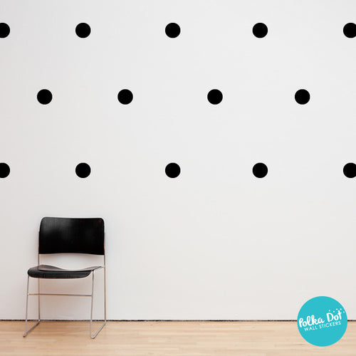 ... Black Polka Dot Wall Decals