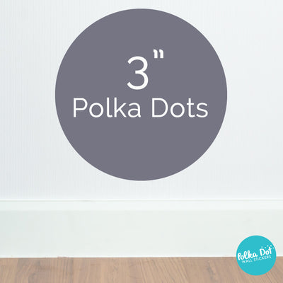 Three inch polka dot wall decals by Polka Dot Wall Stickers