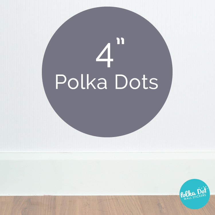 Four inch polka dot wall decals by Polka Dot Wall Stickers