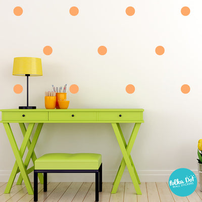 Pastel Orange Polka Dot Wall Decals