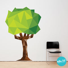 Polygonal Tree wall Stickers