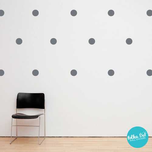 Storm Gray Polka Dot Wall Decals