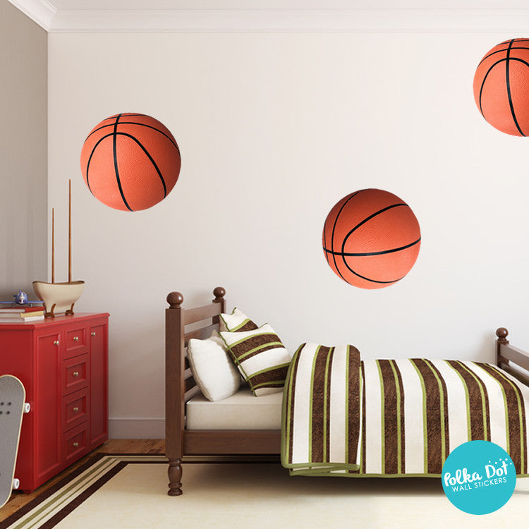 Basketball Wall Decals | Peel and Stick & Apartment Safe – Polka ...