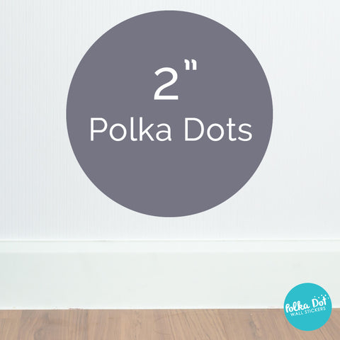 "2"" - Two inch polka dot wall decals by Polka Dot Wall Stickers"