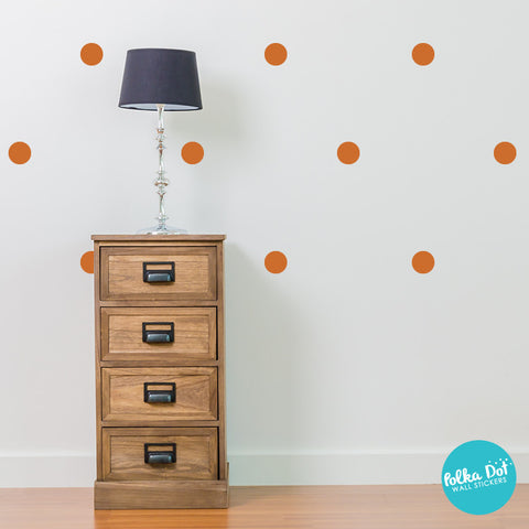 Nut Brown Polka Dot Wall Decals