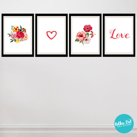 For the Love of Watercolor Flowers Wall Decals