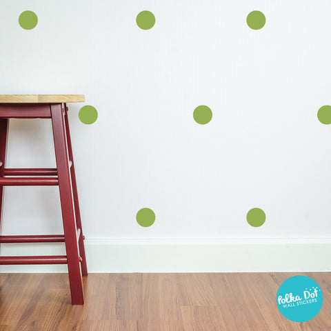 Olive Polka Dot Wall Decals