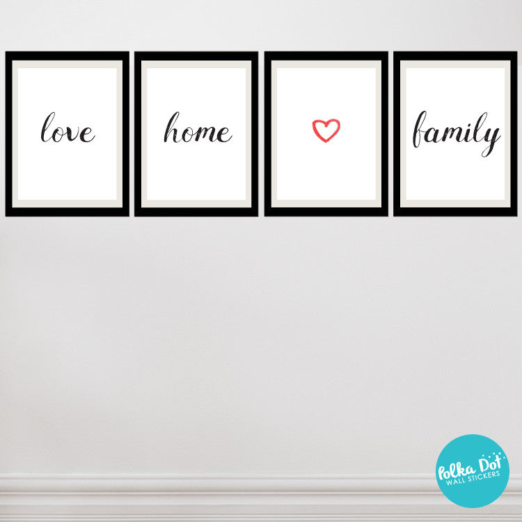 Framely - love home family Wall Decals | Peel and Stick & Apartment ...