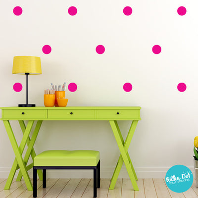 Pink Polka Dot Wall Decals
