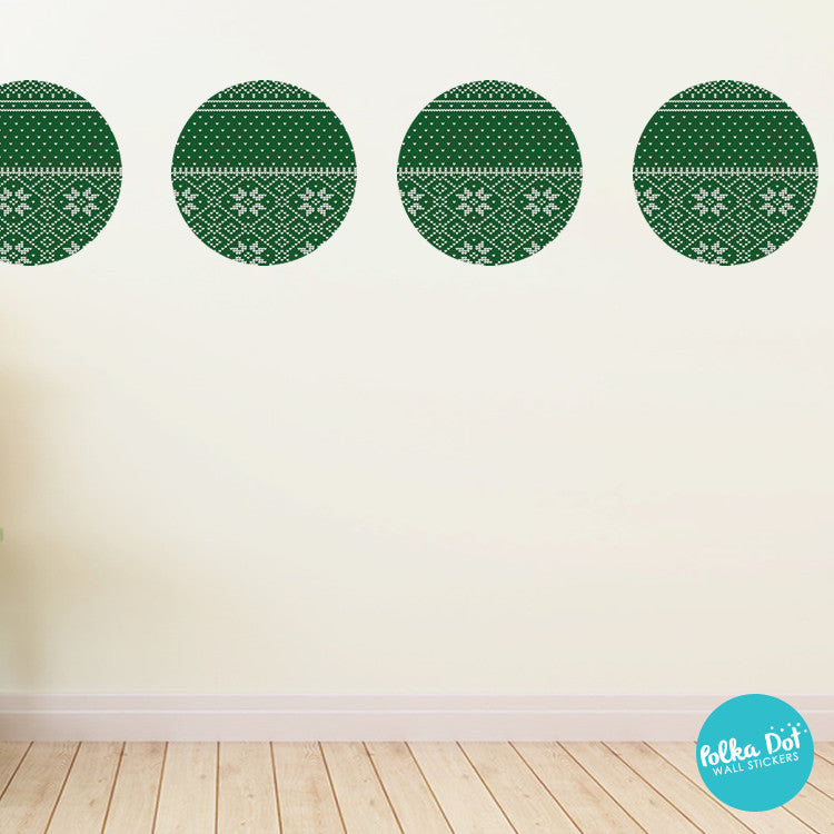 Christmas Ugly Sweater Polka Dot Wall Decals