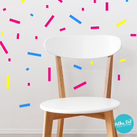 Rectangle Confetti Wall Decals