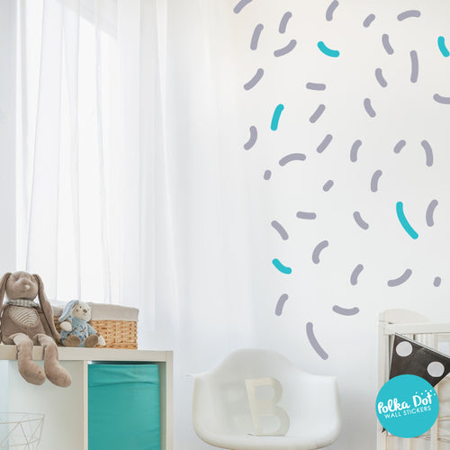 Memphis Style Puff Confetti Wall Decals