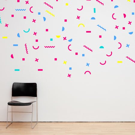 Memphis Style Confetti Wall Decals