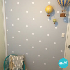 2 inch White Polka Dot Wall Decals by Polka Dot Wall Stickers