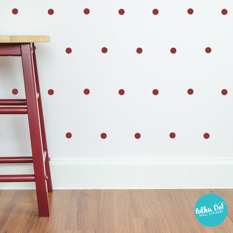 Two inch Polka Dot Wall Decals by Polka Dot Wall Stickers