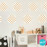 Gold Pattern Dots Within White Polka Dots