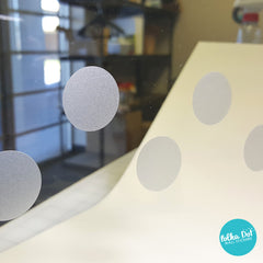 Frost / Etched Glass Polka Dot Decals