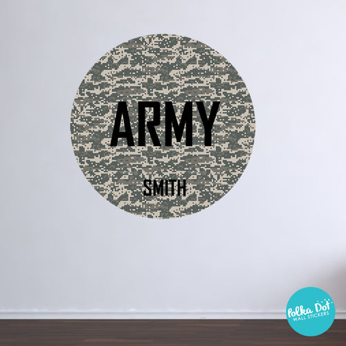 Army Digi Camo Monogram Wall Decals