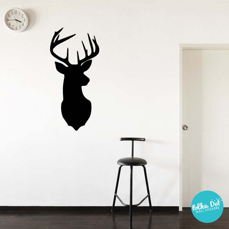 Deer Head Wall Decals by Polka Dot Wall Stickers