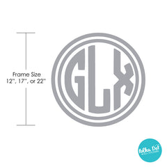 3 Letter Circle Monogram Wall Decal