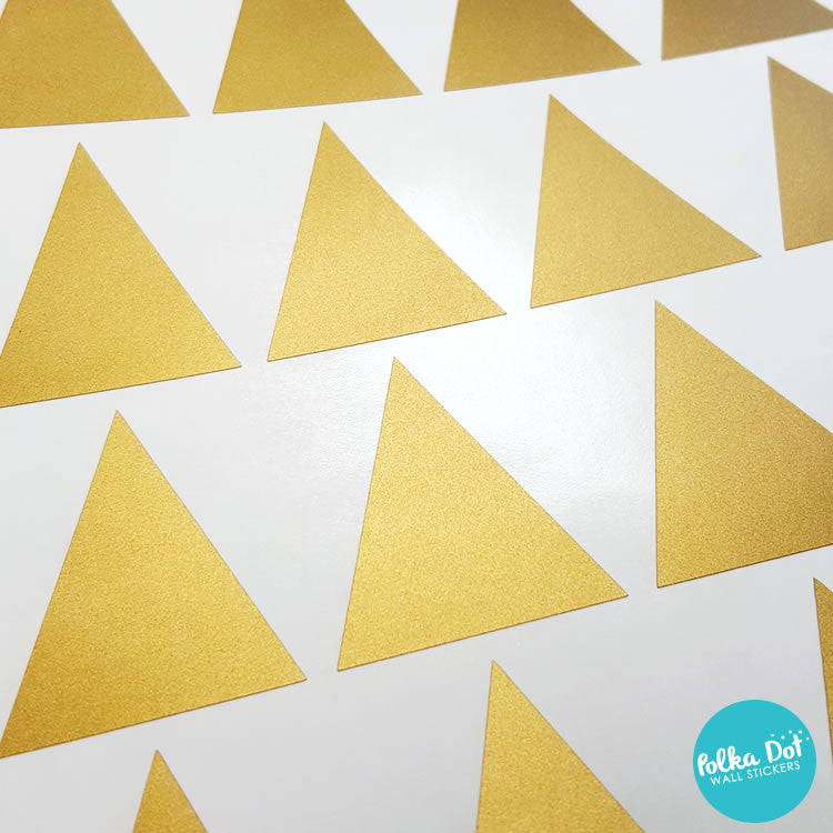 Gold Triangle wall decals by Polka Dot Wall Stickers