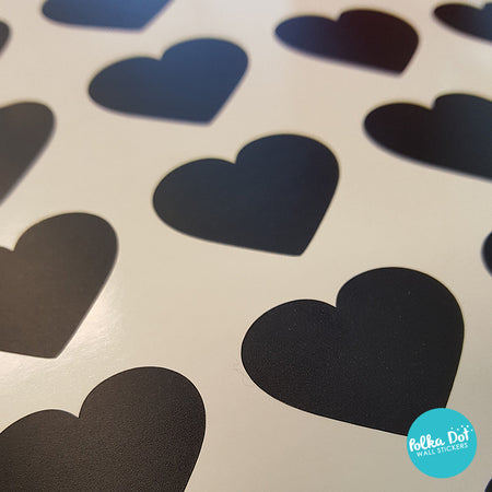 Mini Pack - One Inch Vinyl Heart Stickers