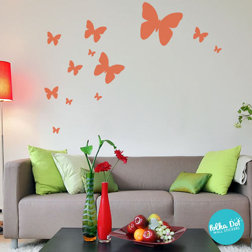 Butterfly Wall Decals & Butterfly Wall Decals | Apartment Safe u2013 Polka Dot Wall Stickers