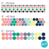Dark Pastel Confetti Polka Dot Wall Decals