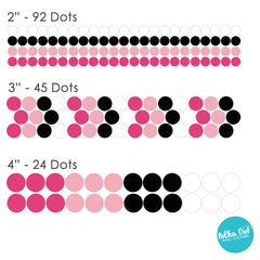 Shades of Minnie Mouse Polka Dot Wall Decals