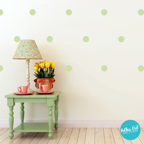 Celadon Polka Dot Wall Decals