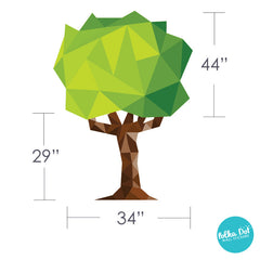 Polygonal Tree Wall Decal