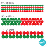 Red and Green Christmas Confetti Polka Dot Wall Decals