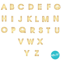 Theater Letter Alphabet Wall Decals