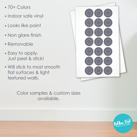 Polka Dot Wall Stickers Apartment Safe And Easy To Use - How to make vinyl decals stick to textured walls