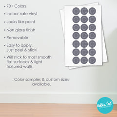 Same Size Polka Dot and Ring Wall Decals