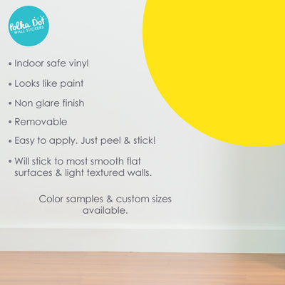Light Yellow Polka Dot Wall Decals