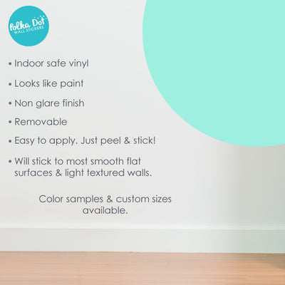 Mint Polka Dot Wall Decals by Polka Dot Wall Stickers