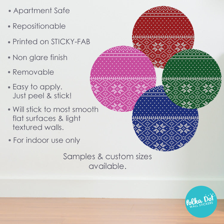 Christmas Ugly Sweater Polka Dot Wall Decals by Polka Dot Wall Stickers