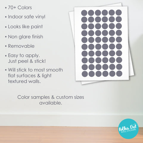 Six Inch Polka Dot Wall Decals Peel  Stick  Polka Dot - How to get vinyl decals to stick to textured walls