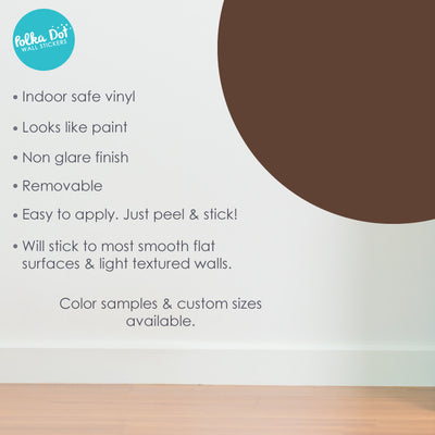 Nougat Brown Polka Dot Wall Decals by Polka Dot Wall Stickers