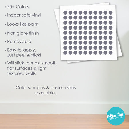 Half Size Dot Wall Decals by Polka Dot Wall Stickers