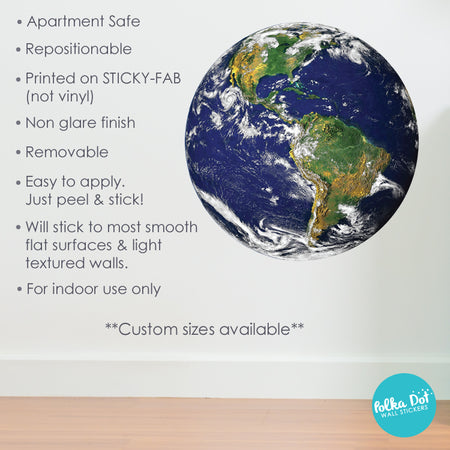Earth Wall Decals by Polka Dot Wall Stickers