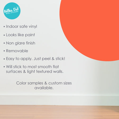 Orange Polka Dot Wall Decals