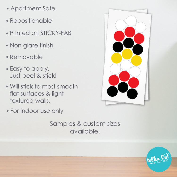 Shades of Mickey Mouse Polka Dot Wall Decals