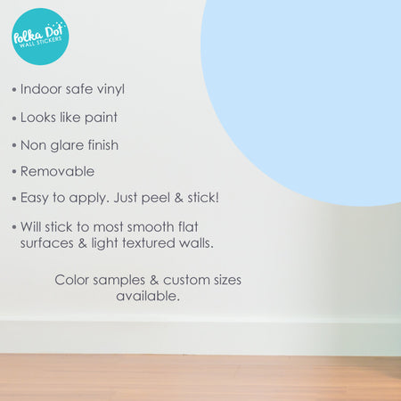 Powder Blue Polka Dot Wall Decals by Polka Dot Wall Stickers