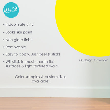 Bright Yellow Polka Dot Wall Decals by Polka Dot Wall Stickers