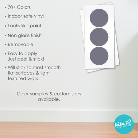 Ten inch polka dot wall decals by Polka Dot Wall Stickers