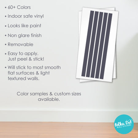 Simple Stripe Border Wall Decals by Polka Dot Wall Stickers
